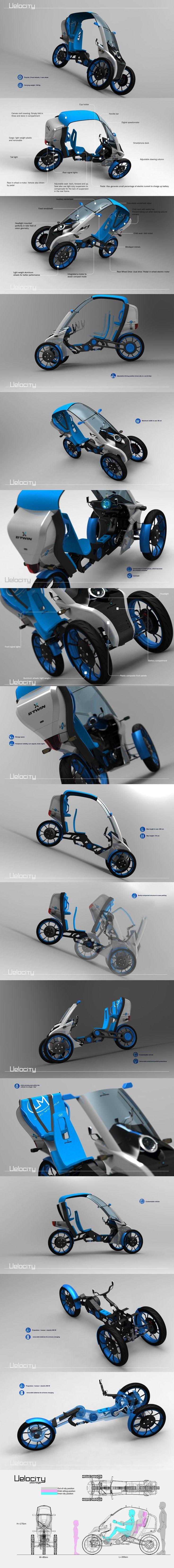 VELOCITY B'TWIN velomobile concept design by John Buhasa