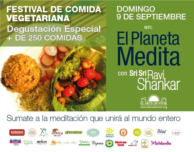 Production  Work By Nat :The first vegetarian food festival in Buenos Aires in a wave of sweet  devotion for Sri Sri Ravi Shankar, art of living `s foundation.