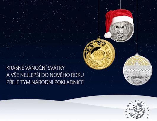 Krásné vánoční svátky a vše nejlepší do nového roku přeje Vaše Národní Pokladnice #vanoce #advent #dekujeme #christmas #pourfeliciter #numismatic www.narodnipokladnice.cz