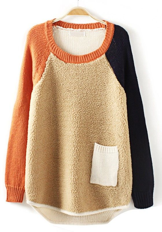 Love patchwork sweaters!