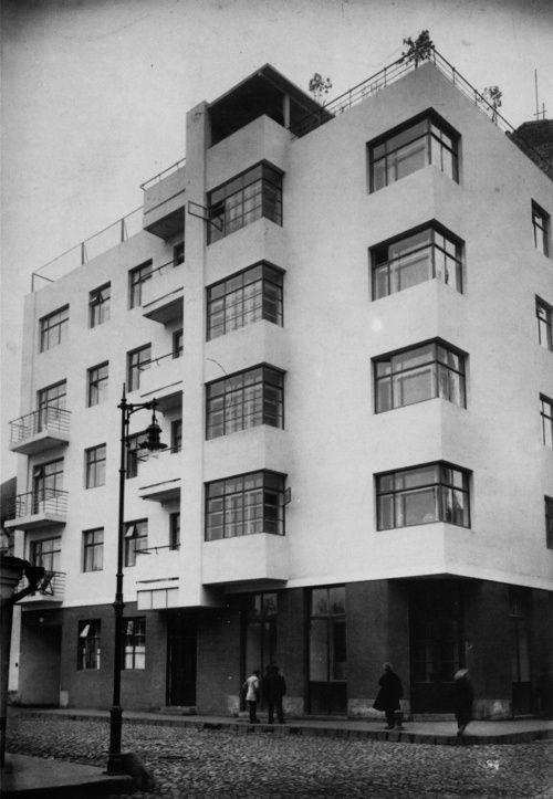 Moisei Ginzburg, Gosstrakh apartment complex in Moscow (1926)