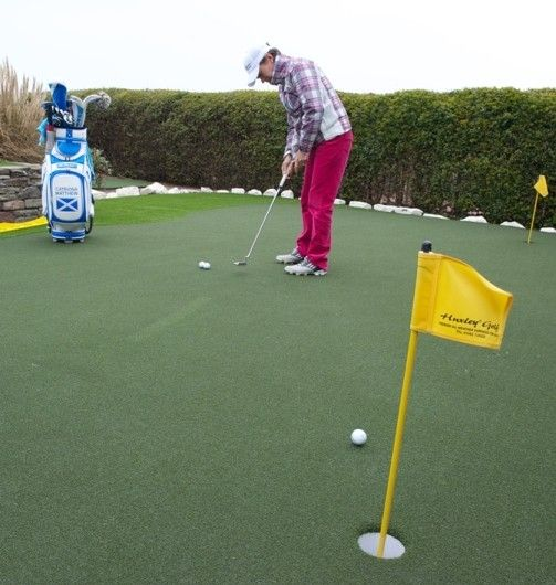 Current British ladies number one and LPGA tour player, Catriona Matthew MBE, has become the latest professional golfer to install world-class practice facilities from Huxley Golf, the PGA's official supplier of all-weather golf surfaces.