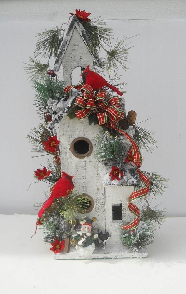 #christmas #floraltrims #birds #birdhouses #crafts