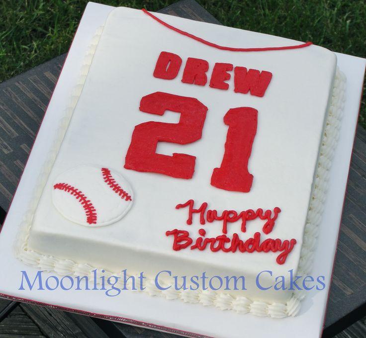 Cincinnati Reds Baseball Birthday Cake cakepins.com