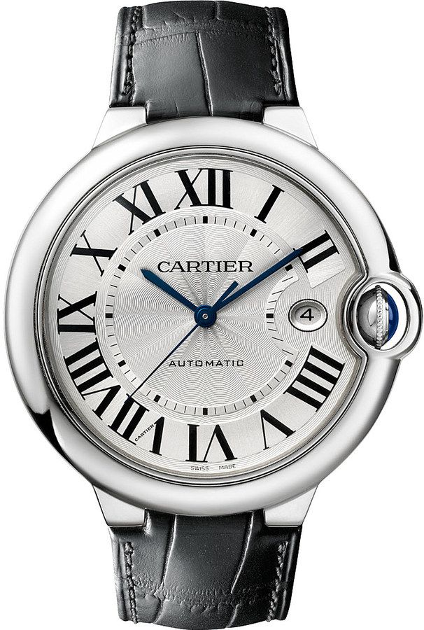 Cartier Ballon Bleu De Cartier Stainless Steel Watch - for Men http://www.thesterlingsilver.com/product/emporio-armani-valente-mens-quartz-watch-with-blue-dial-and-silver-stainless-steel-bracelet-ar17