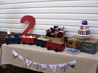 Vintage Train Theme For 2 Year Old Birthday Party