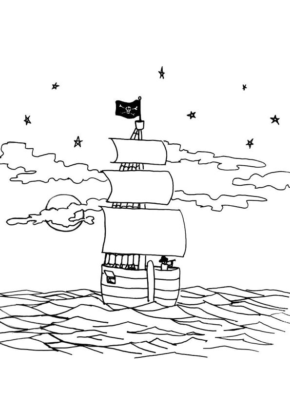 72 best images about coloriages de pirates on pinterest - Coloriage petit navire ...