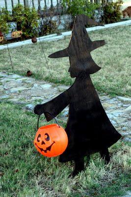 halloween silhouettes yard - Google Search