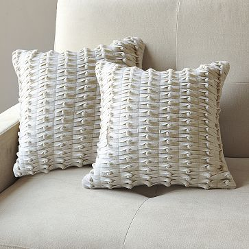 Knotted Felt Pillow Cover #WilliamsSonoma
