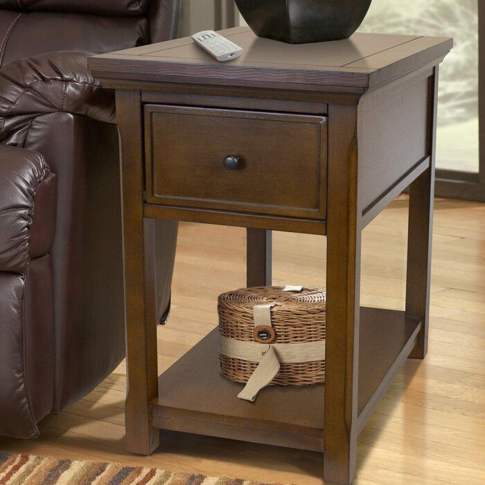 Single Drawer End Table With Storage In 2020 Concealment Furniture American Furniture Furniture