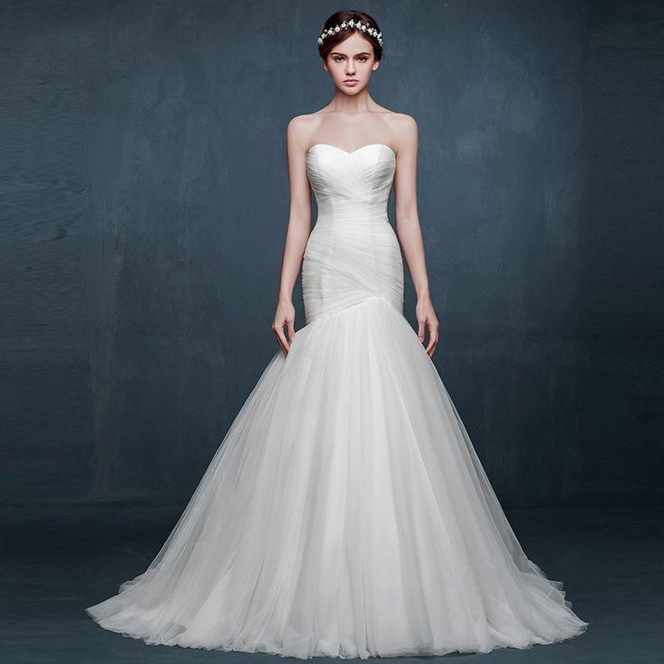 ウェディングドレス マーメイドライン サテン ソフトチュール ハートネック 格安サイズオーダー 新作ドレス JWLT1502D 価格 ¥45,900