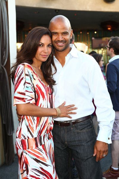 Salli Richardson-Whitfield & her husband, Dondre Whitfield at Comic-Con.