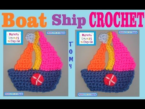 99 best crochet boats images on pinterest crochet patterns filet ship boat in crochet tomy applique by maricita colours in english youtube dt1010fo