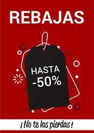 96979c436 Cartel de Rebajas hasta el 50% #Rebajas #ofertas #comercio #tienda #negocio  #local #descuentos #comerciolocal #pymes #empresa