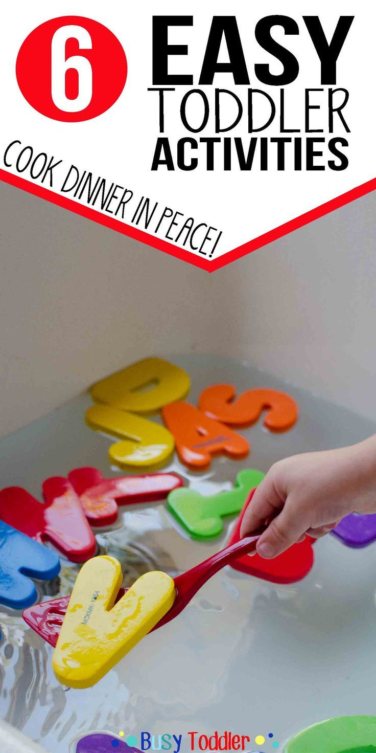 Easy Toddler Activities While You Cook: 6 quick and easy indoor activities to occupy a toddler during dinner time prep.