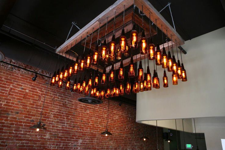 bottlehood 39 s repurposed beer bottle light fixture www