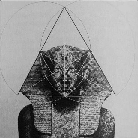egyptian sphinx + geometric