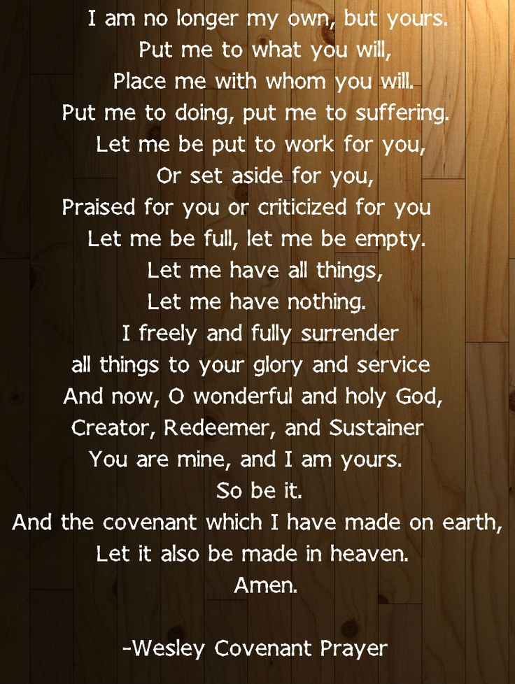 wesley covenant prayer
