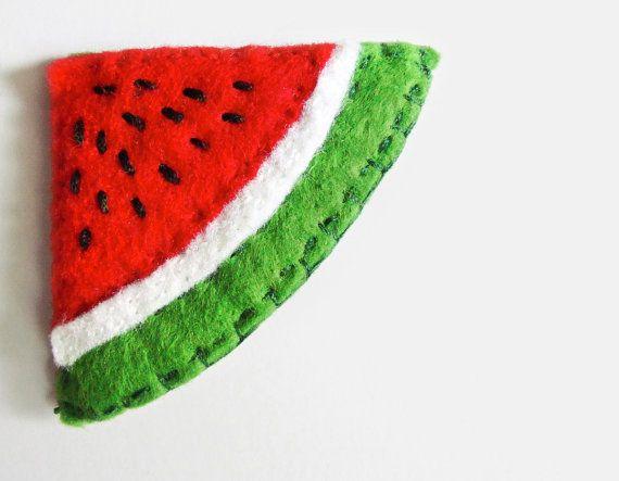 Watermelon slice Felt Bookmark corner by InspirationalGecko, €6.50