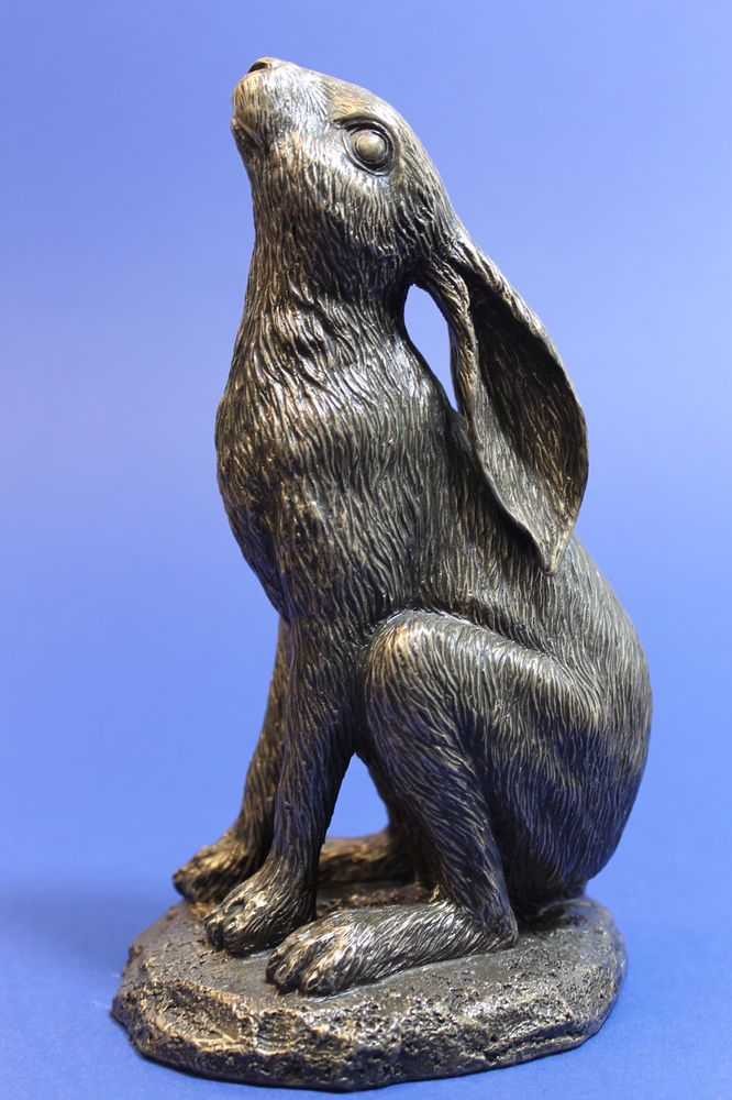 MOON GAZING HARE bronze look figurine Nemesis Now