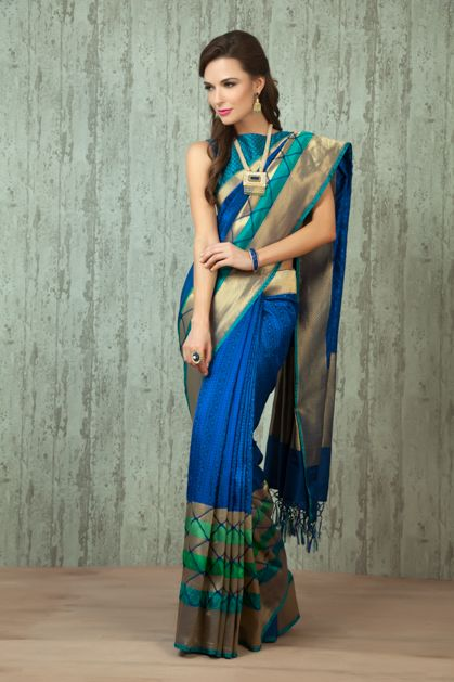 W16-36 - Handloom saree weaved in pure silk. Blouse as seen is optional