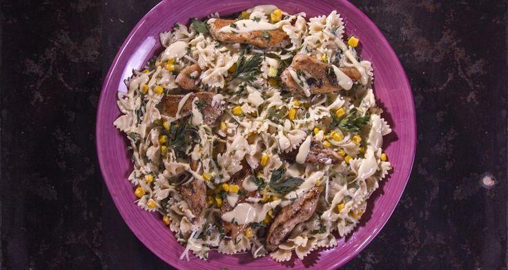 Σαλάτα με ζυμαρικά και κοτόπουλο