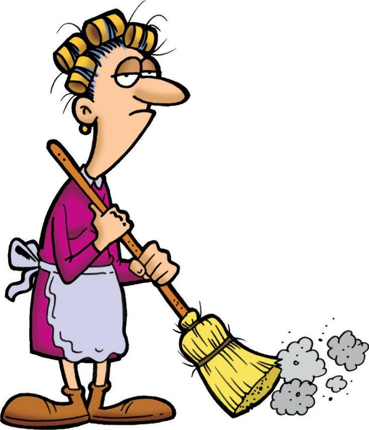 еще смешные картинки уборщица со шваброй или