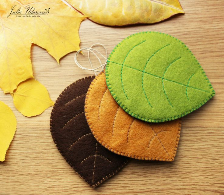 Felt coasters under hot cup. Set of 3