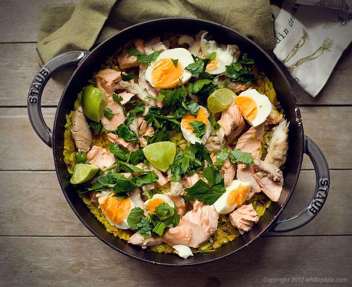Kedgeree, potrawka z ryżu i wędzonej ryby | White Plate