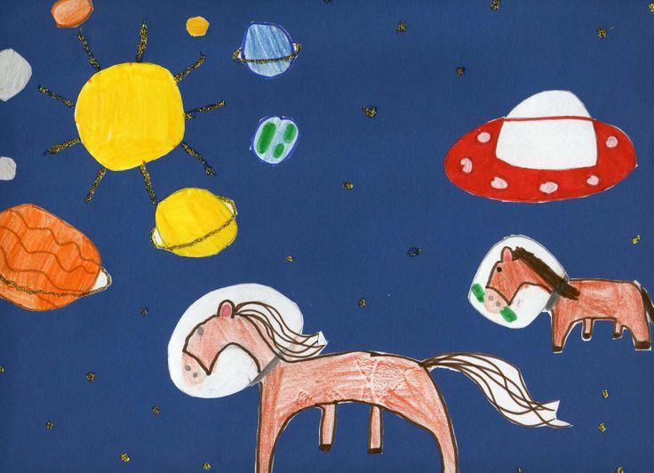 Menzione Speciale nella sua fascia di età della terza edizione: ROBERTA FURNO' – 7 anni Scuola primaria G. Verga di Catania Titolo: Il cavallo nello spazio