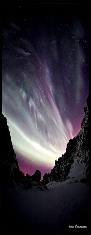 Purple Aurora Borealis by Arnar Valdimarsson on Flickr (cc)