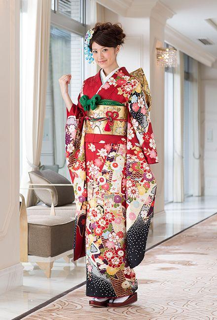 NO.10147 正絹 お仕立上りレンタル|成人式の振袖販売、振袖レンタルの京都きもの友禅