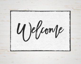 Welcome Door Mat, Welcome Doormat, Custom Mat, Door Mat, Front Door Mat, Indoor Door Mat, Outdoor Door Mat, Welcome Mat, Home Door Mat