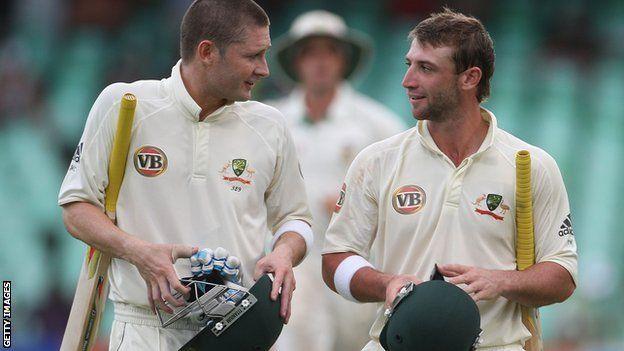 Michael #Clarke and Phillip #Hughes. #australia #cricket