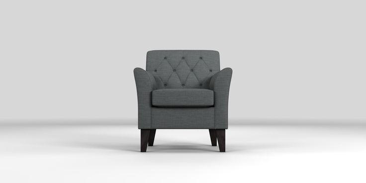 Buy Alfie Buttoned Chair (1 Seat) Studio Texture Dark Charcoal High Tapered - Dark from the Next UK online shop