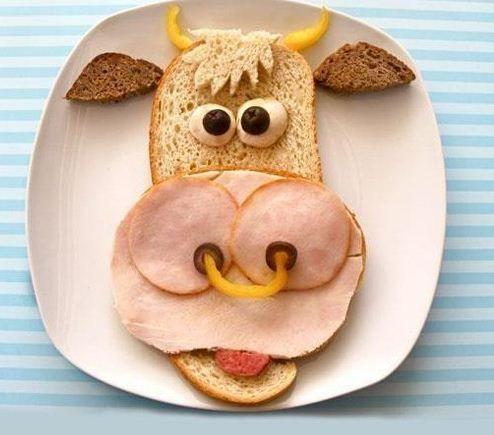 desayunos para niños con figuras divertidas.Muchas ideas para hacer---->