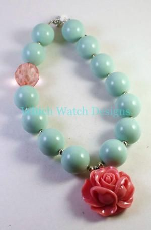 Mint and Pink Necklace Enhancer - Which Watch Designs
