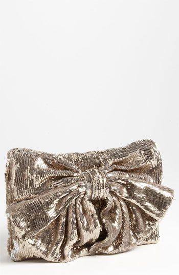 RED Valentino Sequin Bow Clutch, love this oversized clutch!  #nordstromwedding