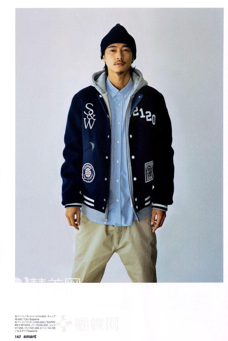 窪塚洋介 Yosuke Kubozuka a.k.a. 卍LINE in Supreme x WTAPS Award Reversible Jacket