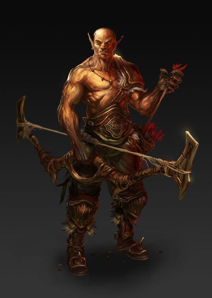 Orc Archer, Selver Dervisic on ArtStation at https://www