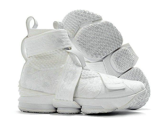 promo code 3cc49 d788e Kith x Nike LeBron 15 Strap Long Live The King Triple White ...