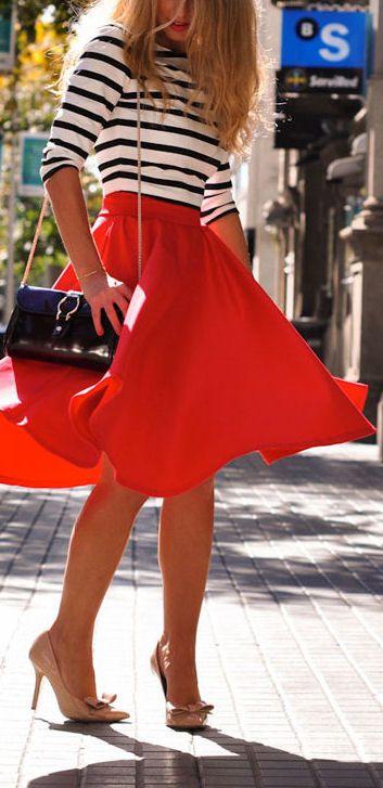 Red Swing Skirt ❤︎                                                                                                                                                                                 More