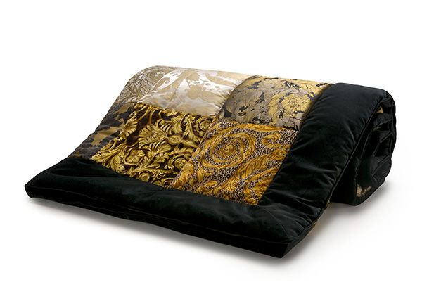 PATCHWORK quilt - Versace Home Collection - Trapunta patchwork con tessuti jacquard Dimensioni: 270x260 cm Colori: MARRONE ORO NERO AVORIO ZTP01FMZPATCHZ0010