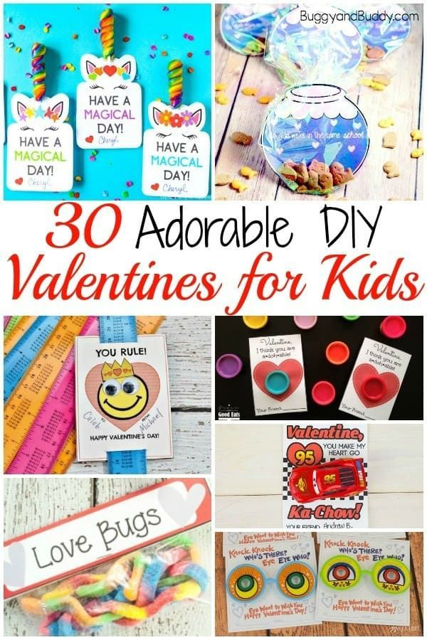 30 Diy Valentines For Kids Buggy And Buddy Valentines Diy Kids Valentines For Kids Valentines Diy