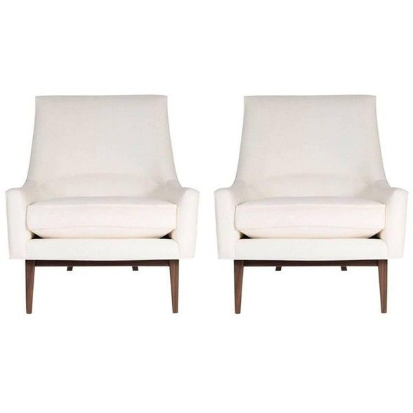 Pair Of Cedrick Lounge Chairs ($7,200) ❤ liked on Polyvore featuring home, furniture, chairs, accent chairs, brown, lounge chairs, fabric accent chairs, upholstered chairs, twin pack and pair accent chairs