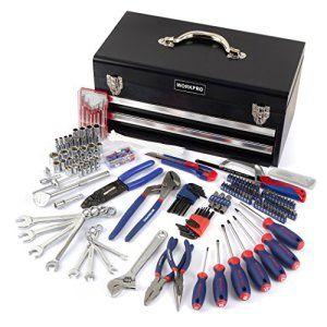 workpro w009054au Kit d'outils pour mécanicien dans boîte en métal à 2tiroirs (239-piece)