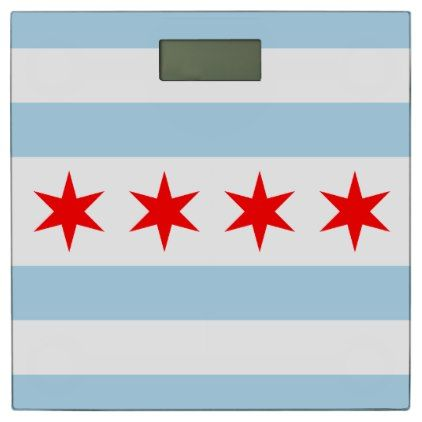 Flag of Chicago Illinois Bathroom Scale - home decor design art diy cyo custom