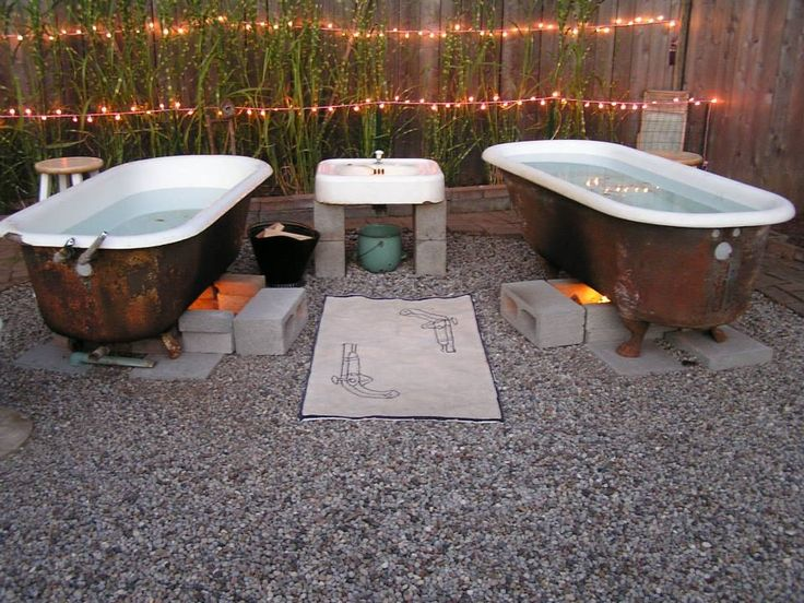 This Is What A Friend Of Gregu0027s Did With Their Backyard. Love It, The. Outdoor  BathtubOutdoor BathroomsOutdoor ShowersOutdoor ...