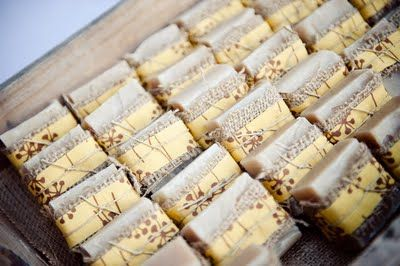 handmade soap wrapped in burlap for favors.  julie beaton makes great stuff like this...