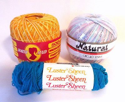 Cotton #Crochet Thread South Maide Circulo Luster Sheen Multi Color Lot 3 New